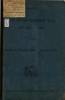 History of the Third Burmese War  1885 1891   PDF