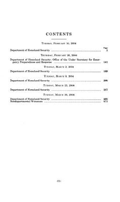 Department of Homeland Security Appropriations for Fiscal Year ...