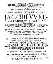 Dissertatiuncula de honoribus, quos antiqui defunctis habuerunt