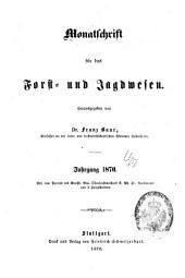 Monatschrift für das forst-und jagdwesen ... 1.-22 jahrg.; 1857-1878