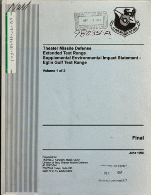 Theater Missile Defense  TMD  Extended Test Range  ETR  Project