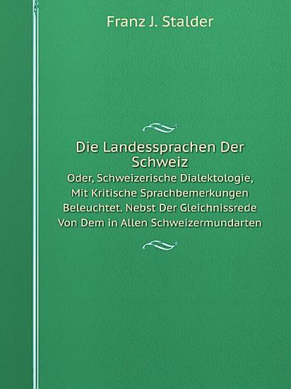 Die Landessprachen der Schweiz PDF