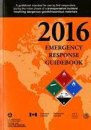 2016 Emergency Response Guidebook Book