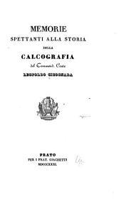 Memorie spettanti alla storia della calcografia del Commend