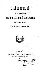 Résumé de l'histoire de la littérature allemande