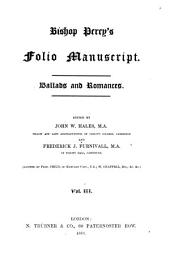 Folio Manuscript: Volumes 3-4