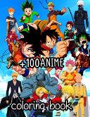 100 Anime Coloring Book PDF