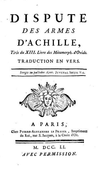 Dispute des armes d Achille