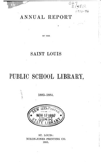 Annual Report of the Saint Louis Public Library PDF