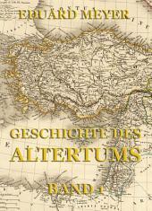 Geschichte des Altertums, Band 1: Band 1
