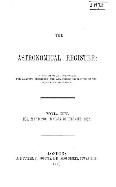 Download Astronomical Register Book
