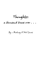 Thoughts A Thousand Times Over  Book PDF