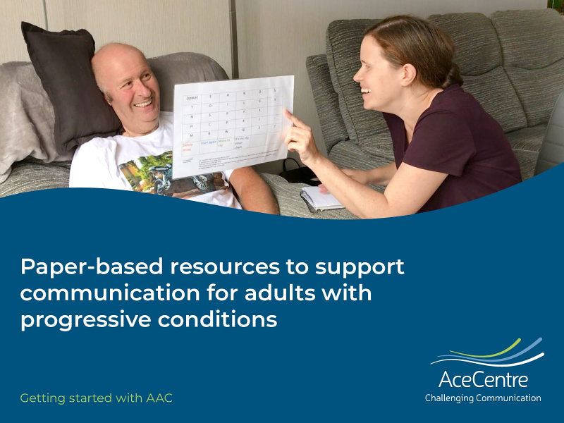 Download Paper based resources to support Communication for Adults with Progressive Conditions Book