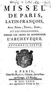 Missel de Paris, latin-françois ... Automne II. partie