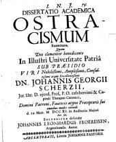 Dissertatio academica ostracismum examinans