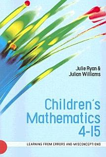Children S Mathematics 4 15  Learning From Errors And Misconceptions Book