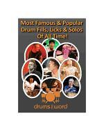 Famous DRUM FILLS, Licks & Solos!