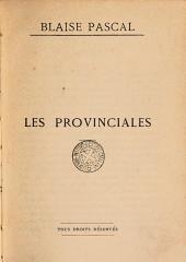 Oeuvres de Blaise Pascal: les provinciales