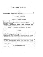 Rapport à Monsieur le Président de la République sur les opérations de Caisses d'Epargne ordinaires