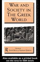War and Society in the Greek World PDF