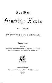 Goethes sämtliche werke: Sprüche. Ethisches. Theaterreden. Maskenzürge. Register zu Bd.1-4. Bd. 5. Hermann u. Dorothea. Achilles. Reineke Fuchs