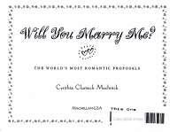 Will You Marry Me  PDF