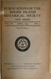 Publications of the Rhode Island Historical Society: Volume 3