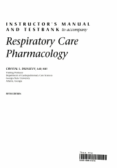 Respiratory Care Pharmacology PDF
