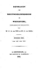 Bijdragen tot regtsgeleerdheid en wetgeving: Volume 7