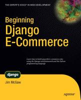 Beginning Django E Commerce PDF