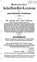 Medicinisches Schriftsteller Lexicon der jetzt lebende Aertze  Wund  rtze  Geburtshelfer  Apotheker und Naturforscher aller gebildeten V  lker PDF