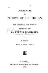 Commentar zu Thucydides' Reden: Band 1