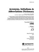 Download Acronyms  Initials and Abbreviations Part 1 A F Book