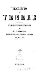Tempietto di Venere: Scelta di prose e poesie erotiche