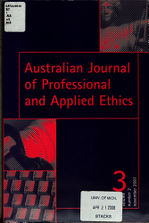 Australian Journal Of Professional And Applied Ethics Book PDF