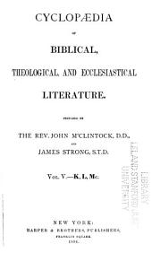 Cyclopædia of Biblical, Theological, and Ecclesiastical Literature: Volume 5