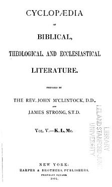 Cyclop  dia of Biblical  Theological  and Ecclesiastical Literature PDF