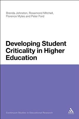 Developing Student Criticality in Higher Education PDF