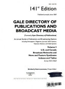Gale Directory of Publications and Broadcast Media PDF