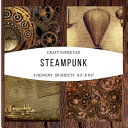 Craft Paper Pad Steampunk 8 5x8 5 Craft Paper  4 Designs  20 Sheets