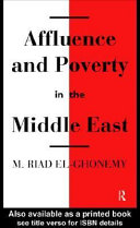 Affluence and Poverty in the Middle East PDF