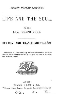 Life and the soul  Biology and Transcendentalism   2 lects    PDF