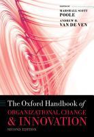 The Oxford Handbook of Organizational Change and Innovation PDF