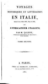 Voyages historiques et littéraires en Italie, pendant les années 1826, 1827 et 1828, ou, L'indicateur italien: Volume2