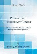 Poverty and Hereditary Genius