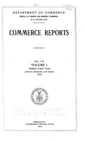 Commerce Reports: Volume 1