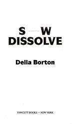 Slow Dissolve Book PDF