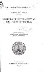Methods of exterminating the Texas-fever tick
