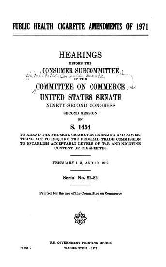 Public Health Cigarette Amendments of 1971 PDF