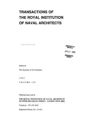 Transactions of the Royal Institution of Naval Architects PDF